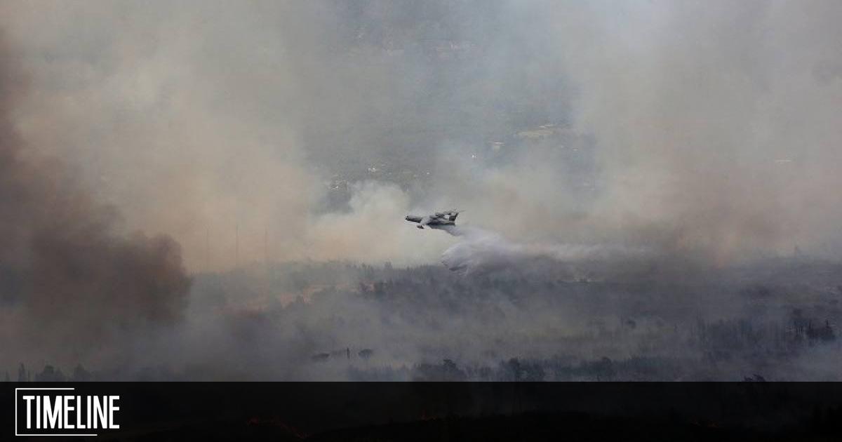 Φωτιά σε Μάνη και Μεσσηνία: Συνεχίζεται η μάχη με τις φλόγες